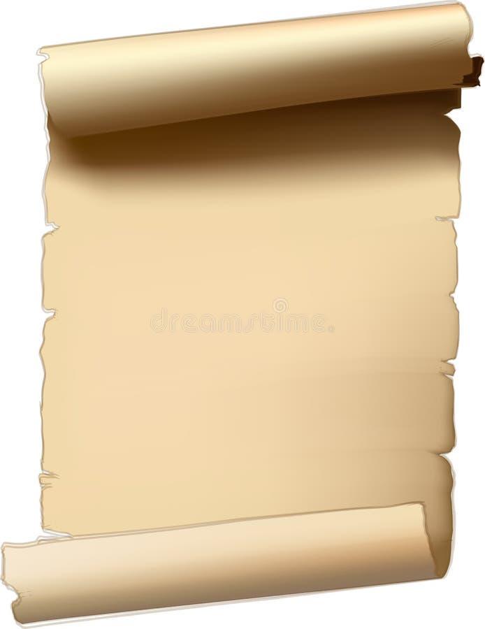 Oude document rol vector illustratie