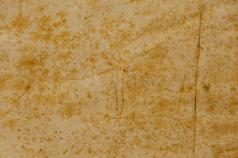 Oude Document Textuur of achtergrond met donker vignet stock foto
