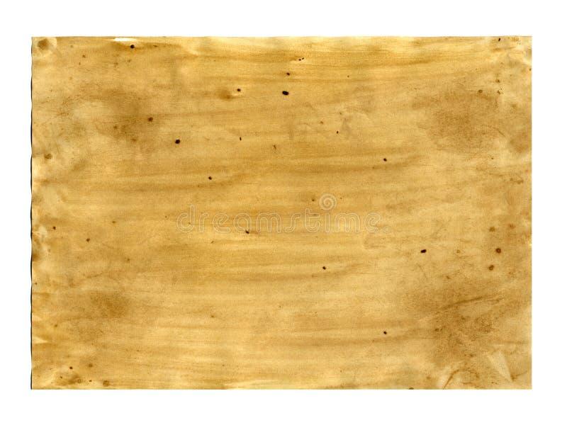 Oude document textuur op witte achtergrond stock fotografie