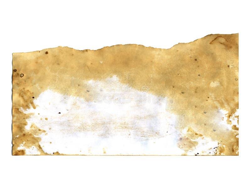 Oude document textuur op witte achtergrond royalty-vrije stock foto