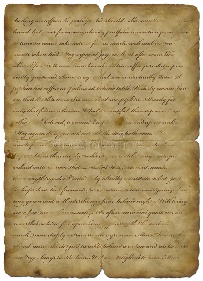 Oude document wijnoogst met tekst - abstracte achtergrond vector illustratie