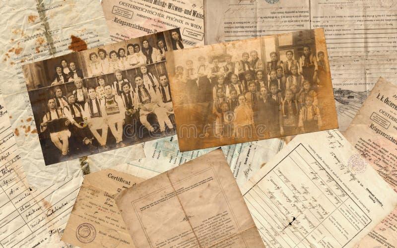 Oude documenten stock afbeeldingen
