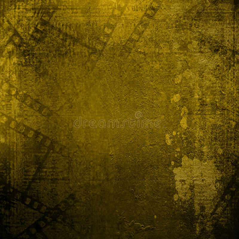 Oude documenten en grunge filmstrip op vervreemde achtergrond vector illustratie