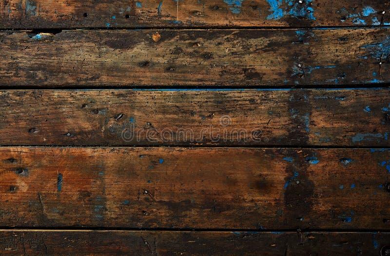 Oude donkere uitstekende houten textuur als achtergrond stock afbeeldingen