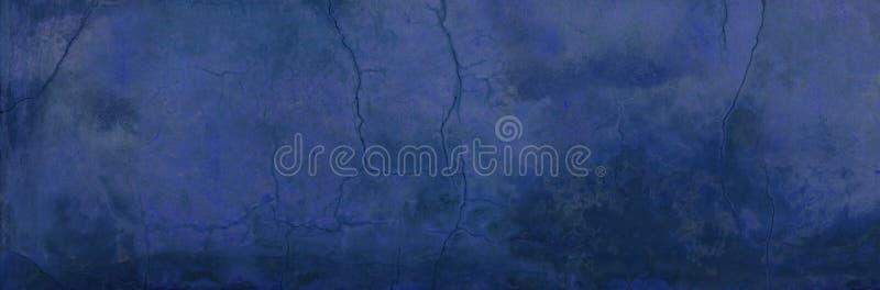 Oude doorstane gespleten blauwe textuur als achtergrond royalty-vrije stock afbeeldingen