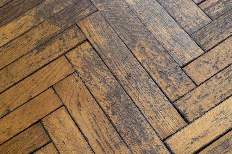 Oude doorstane vuile houten vloer royalty-vrije stock afbeeldingen