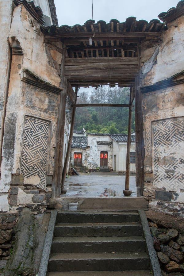Oude dorpen in Zhejiang, China stock foto's