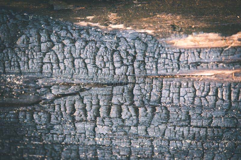 oude droge gebrande houten planken - uitstekend filmeffect royalty-vrije stock fotografie