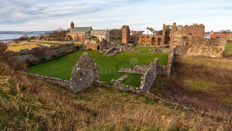 Oude Dromen & Geheimen van Lindisfarne stock afbeeldingen