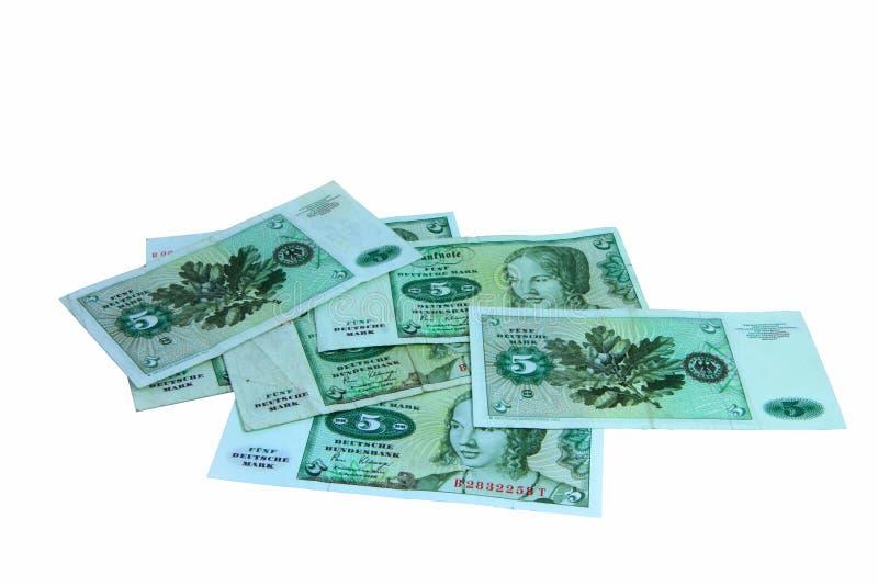 Oude Duitse bankbiljetten stock afbeeldingen