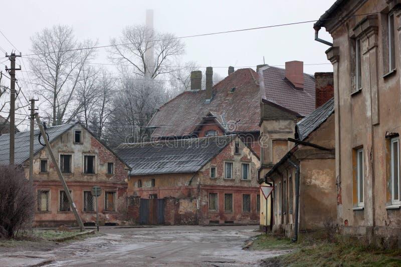 Oude Duitse gebouwen royalty-vrije stock afbeelding