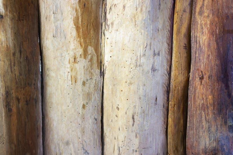 Oude echte houten van de muurtextuur close-up als achtergrond stock afbeelding