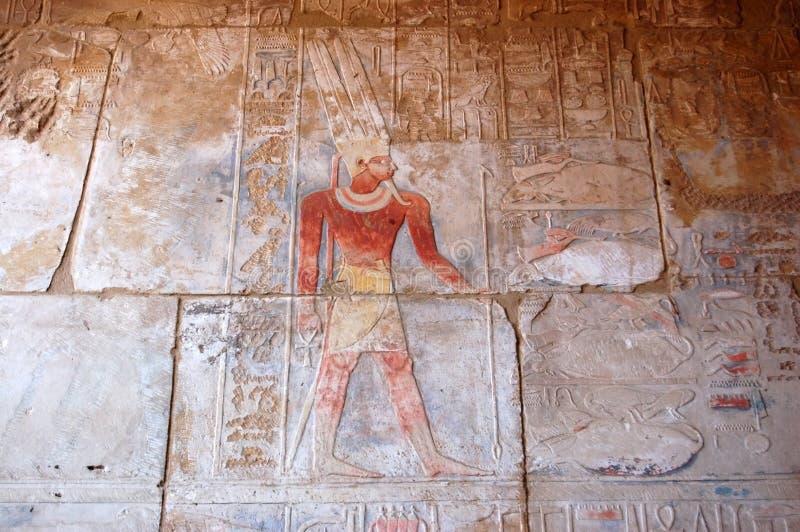 Oude Egyptische God Amun royalty-vrije stock foto