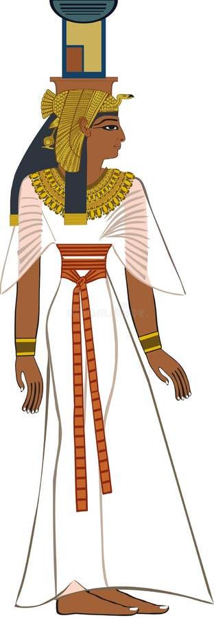 Oude Egyptische Godin Nephthys royalty-vrije stock foto