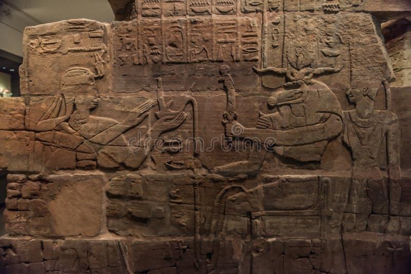 Oude Egyptische hiërogliefen royalty-vrije stock fotografie