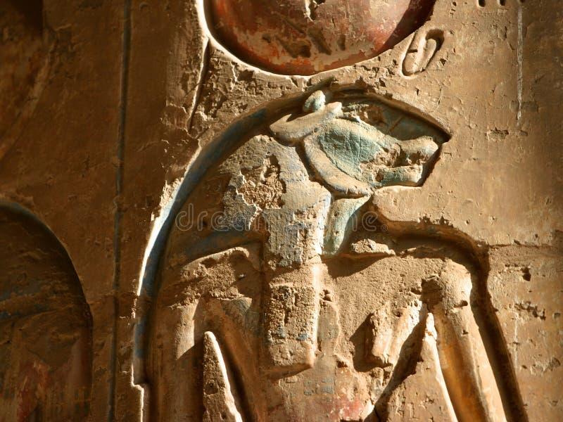 Oude Egyptische muur royalty-vrije stock foto's