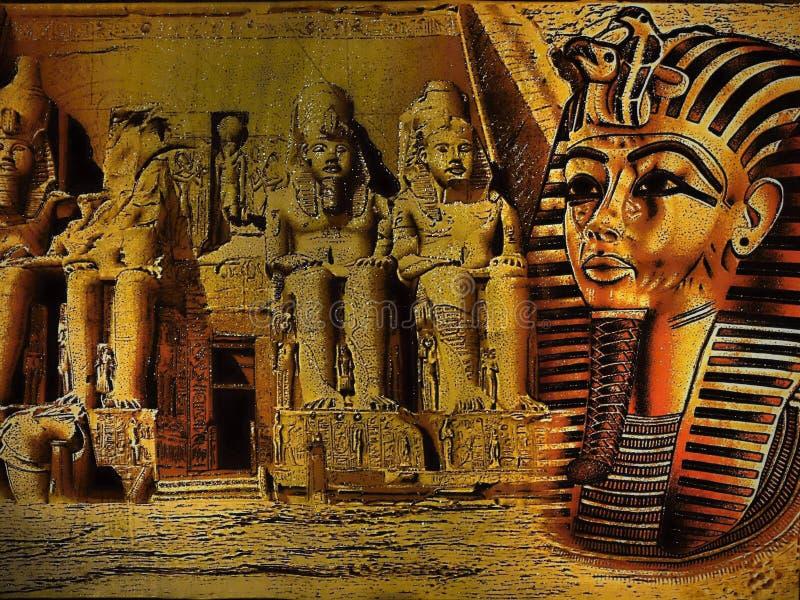 Oude Egyptische papyrus met farao royalty-vrije illustratie