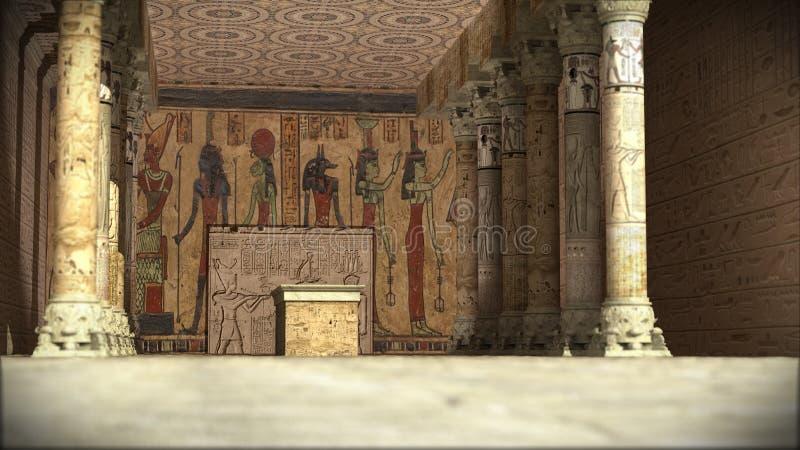 Oude Egyptische tempel stock foto