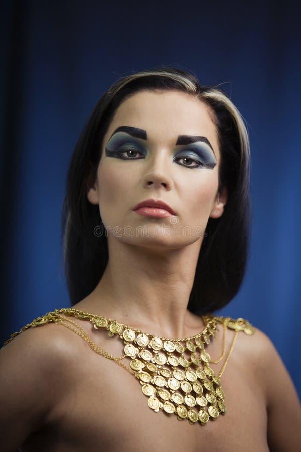 Oude Egyptische vrouw royalty-vrije stock fotografie