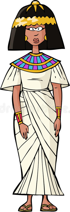 Oude Egyptische vrouw royalty-vrije illustratie