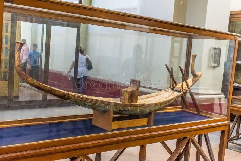 Oude Egyptische zonneboot Atet royalty-vrije stock afbeeldingen