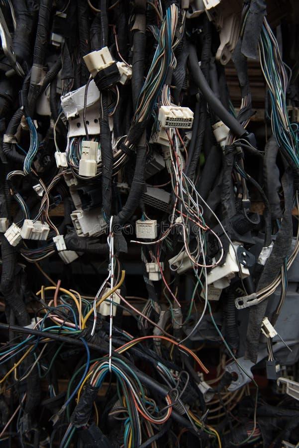 Oude elektrische kabels royalty-vrije stock foto
