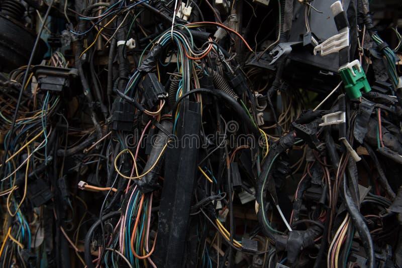 Oude elektrische kabels royalty-vrije stock fotografie