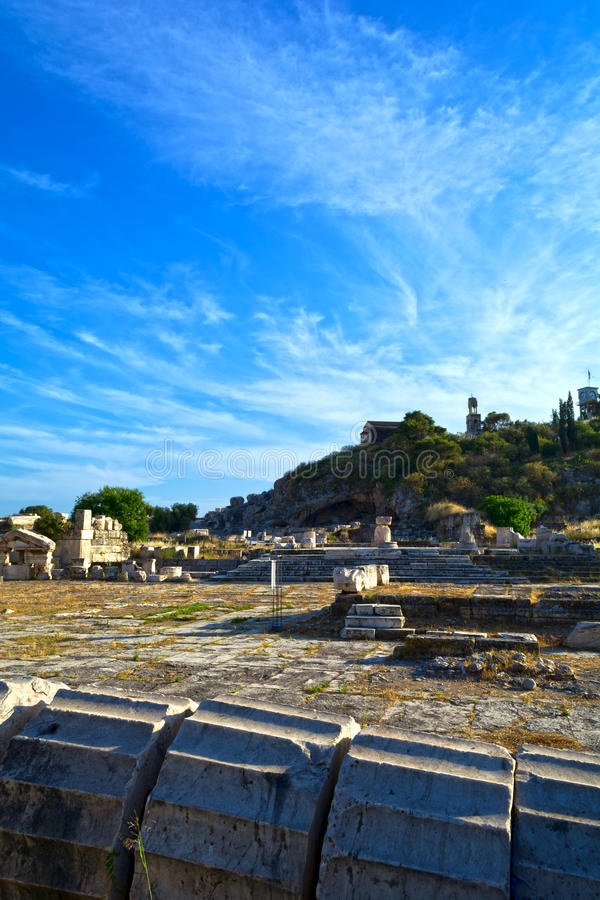 Oude Eleusis royalty-vrije stock fotografie