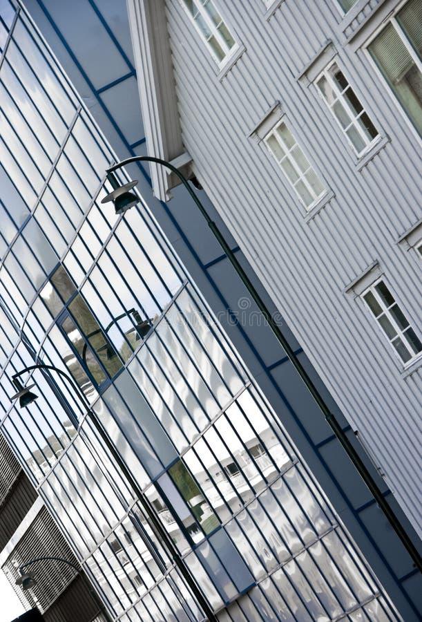 Oude en moderne Tromso royalty-vrije stock fotografie