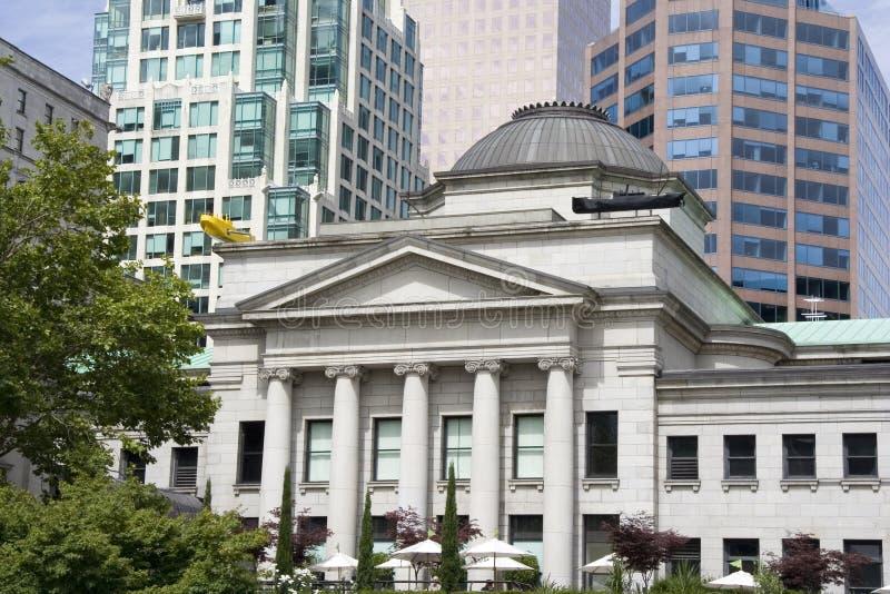 Oude en nieuwe gebouwen in Vancouver royalty-vrije stock foto's