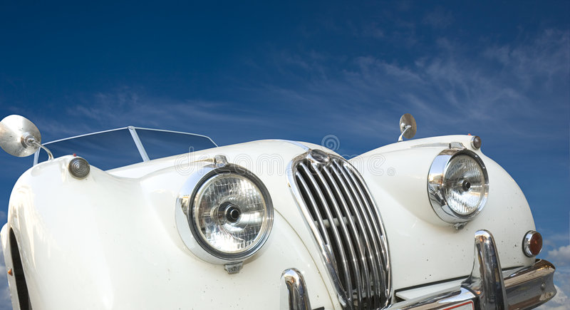 Oude Engelse auto royalty-vrije stock fotografie