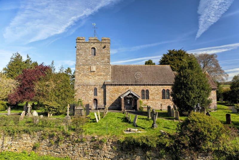 Oude Engelse Kerk, Stokesay, Shropshire, Engeland royalty-vrije stock afbeelding