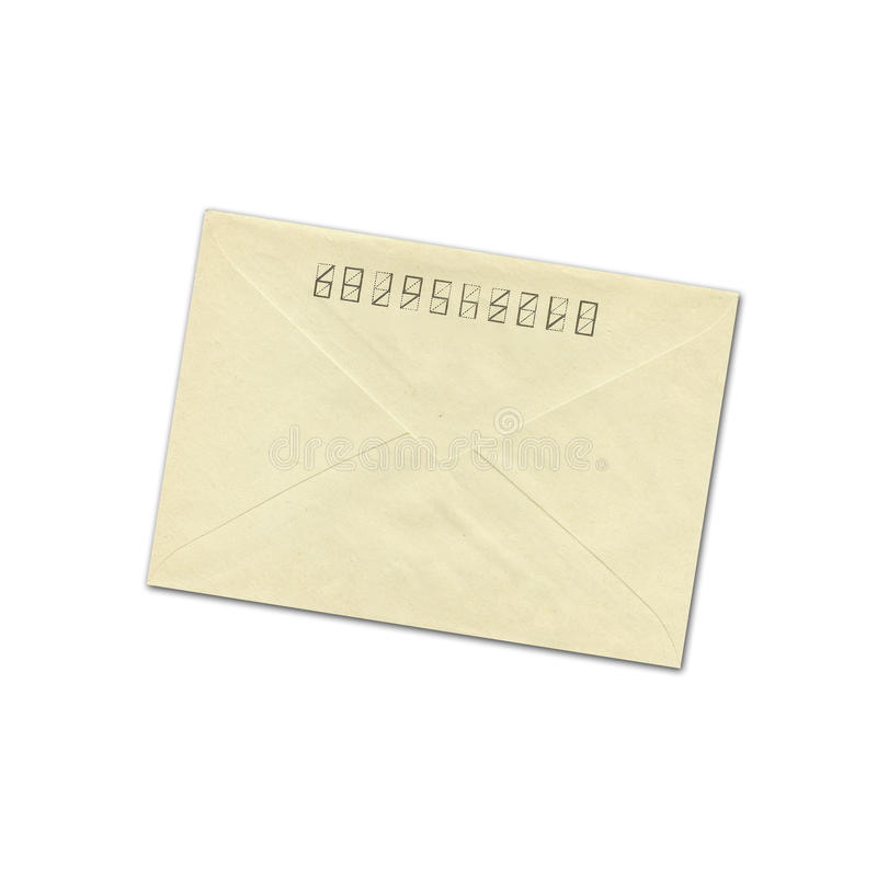 Oude envelop royalty-vrije stock fotografie