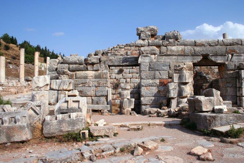 Oude Ephesusruïnes Stock Foto