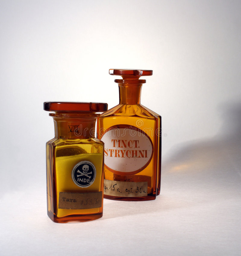 Oude Farmaceutische Fiolen royalty-vrije stock fotografie