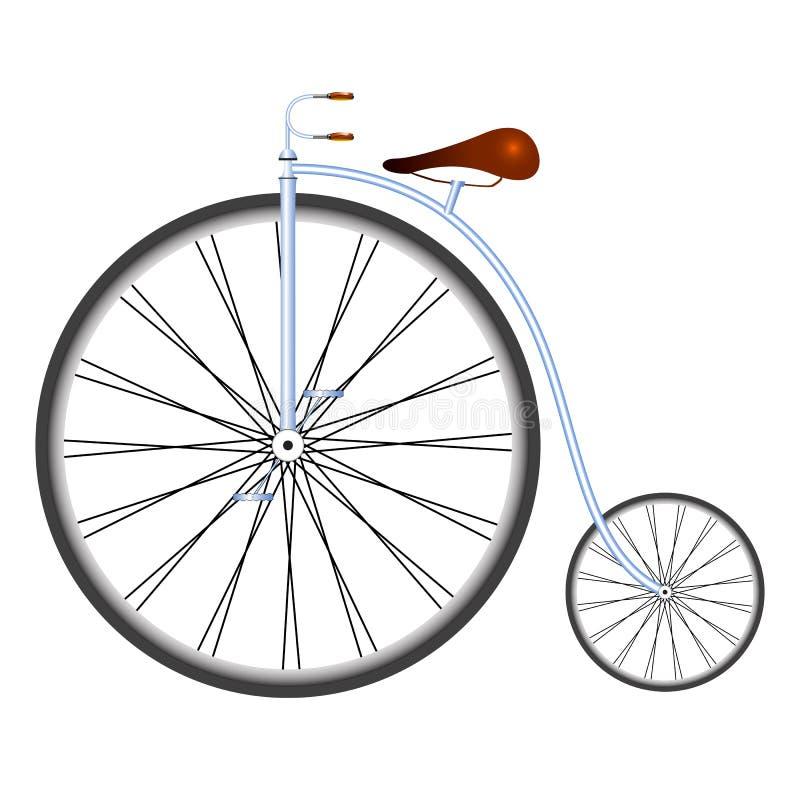 Oude fiets royalty-vrije illustratie