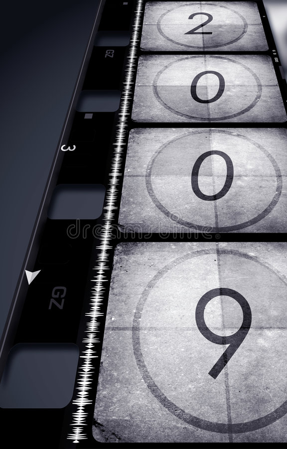 Oude film met 2009 stock illustratie