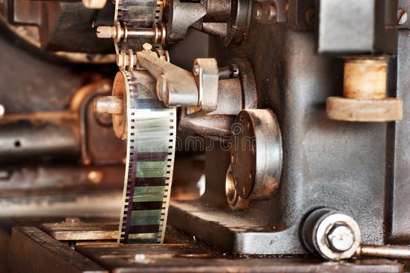 Oude filmprojector royalty-vrije stock afbeeldingen