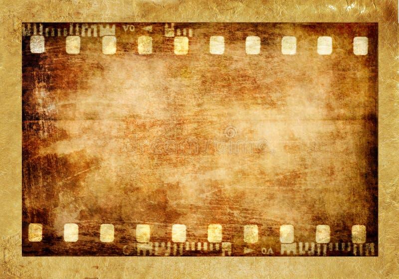Oude filmstrook stock illustratie