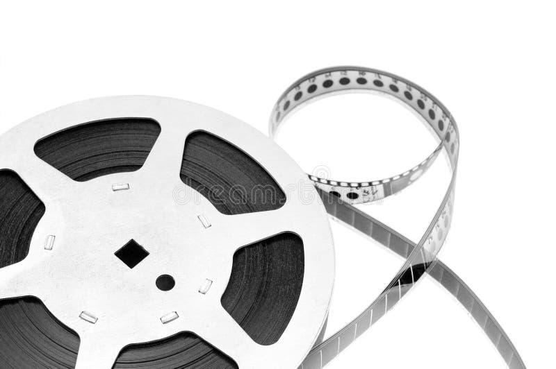 Oude filmstrook die op witte achtergrond wordt geïsoleerda stock foto