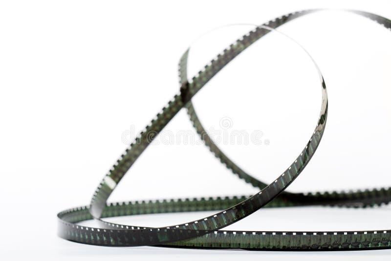 Oude filmstrook met witte achtergrond stock fotografie