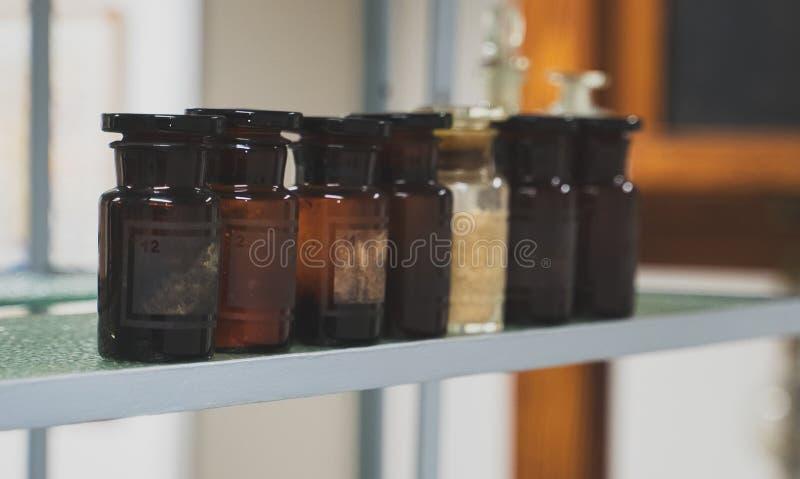 Oude flessen royalty-vrije stock fotografie