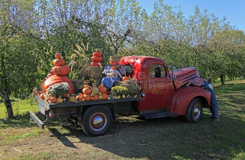 Oude Ford-vrachtwagen in Hendersonville royalty-vrije stock foto's