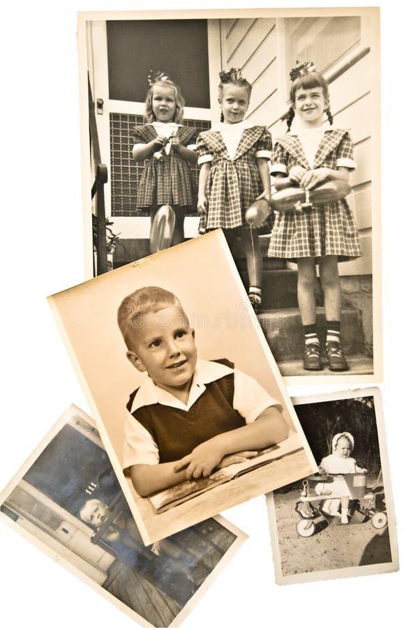Oude Foto's/Kinderen en Babys stock foto