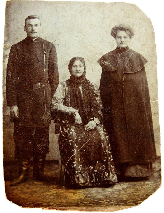 Oude foto van familie royalty-vrije stock foto's