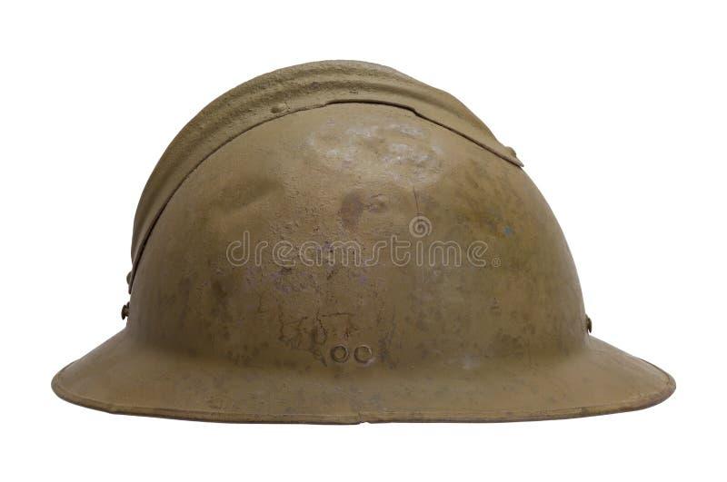 Oude Franse Helm Zijaanzicht royalty-vrije stock foto