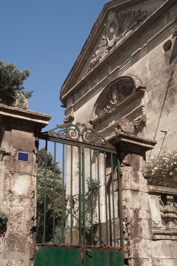 Oude Franse woonplaats stock afbeelding