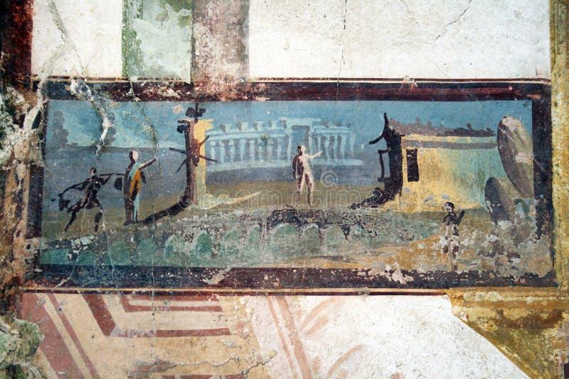 Oude fresko stock foto