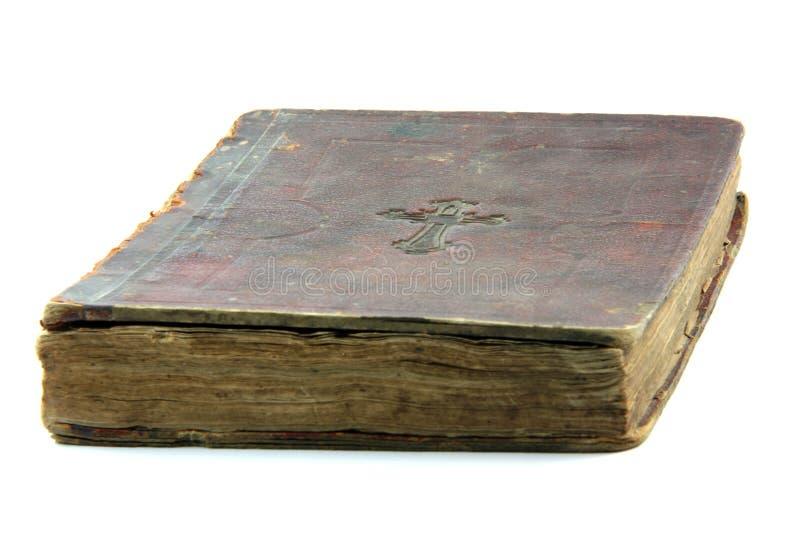 Oude geïsoleerdei bijbel royalty-vrije stock foto