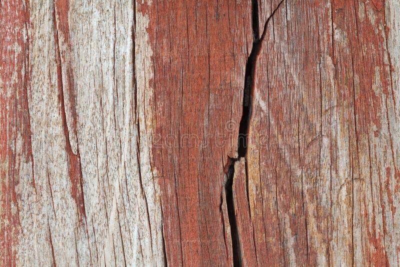 Oude gebarsten houten textuur stock fotografie